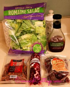 Trader Joes - Tasty-cranberry-goat-cheese-pecan-salad Ingredients - DELISH - www.ConcordCottage.com