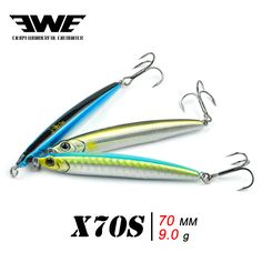 Aliexpress.com : Buy 1 pcs Availble EWE pencil fishing lure hard plastic minnow lure fishing bait with one very sharp fishing hook X 70S from Reliable bait carp suppliers on Enjoy Outside