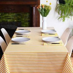 Sailor Mustard Tablecloths   Unison