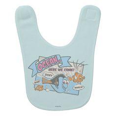Nemo, Dory & Marlin | Ocean Here we Come baby bib.