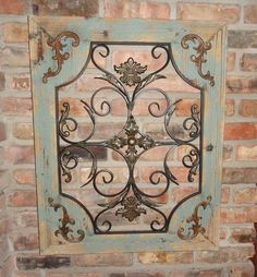 Rustic Wood Frame Window Metal Wall Decor Cottage Chic Shabby Home Decor French | Home & Garden, Home Décor, Other Home Décor | eBay!