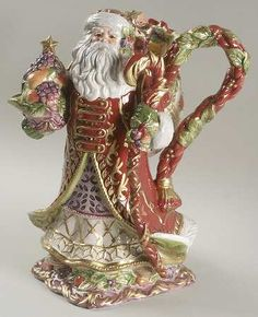 Fitz/Floyd Renaissance Santa Teapot & Lid. A Xmas gift from many years ago. Still brought out every Christmas!