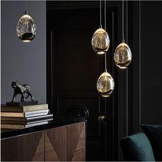 NEW JOHN LEWIS SINGLE DROPLET LED PENDANT CLEAR/SATIN GOLD LUXURY CEILING LIGHT
