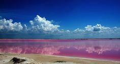 El Lago Rosa en la península de Yucatán #MartesViajero