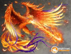I give you the Heroes' Tears version of the Phoenix! Comprised of the elements of fire and air, you would be wise not to piss this large, raptor-like bird off.  Illustration by Stephanie Shimerdla