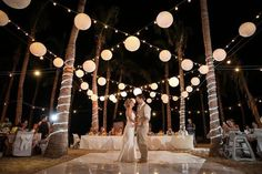 Stunning Destination Wedding in Cabo San Lucas Gorgeous beach wedding decoration with paper lanterns.Gorgeous beach wedding decoration with paper lanterns. Dance Floor Wedding, Beach Wedding Reception, Beach Wedding Decorations, Wedding Themes, Wedding Venues, Dream Wedding, Wedding Ideas, Trendy Wedding, Unique Weddings
