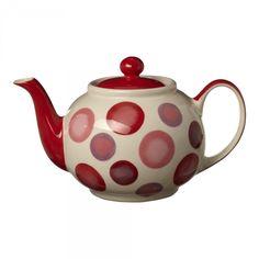 Red Sun Spot 6-Cup Teapot