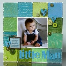 Little Man Scrapbook Page