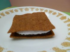 Campfire Felt Marshmallow Graham Crackers by GiftCreation on Etsy