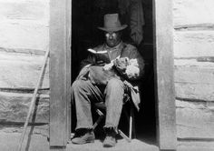 Theodore Roosevelt got stout in later years, but was never without a book.
