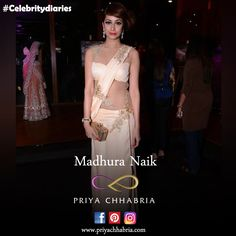 Throwback to when this beautiful lady, Madhura Naik, flaunted an illusion back saree gown designed by Priya Chhabria. #priyachhabria #throwback #thursday #beautifullady #saree #gown #actress #bollywood #model #illusion #fashionista #bollywoodfashion #timeless