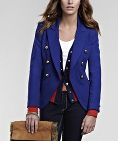 Take a look at this Cobalt Blue Maryna Blazer by Baukjen on #zulily today! $90 !!