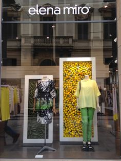 "Miroglio Piazza Della Scala, Milan,Italy, ""Fashion with the colors of fruit!"", photo by Lucilla Trotta, pinned by Ton van der Veer"