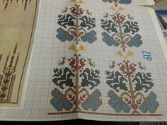 This Pin was discovered by Nur Folk Embroidery, Cross Stitch Embroidery, Embroidery Patterns, Knitting Patterns, Cross Stitch Designs, Cross Stitch Patterns, Cross Stitch Flowers, Cross Stitching, Handicraft