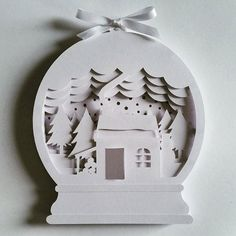 Create your own layered papercut shadow box with this Personal Use template…