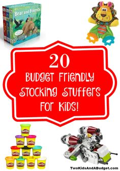Parents know Christmas is expensive! Stocking stuffers shouldn't be. Here are 20 budget friendly stocking stuffers for kids under 7 your wallet will love. www.TwoKidsAndABudget.com