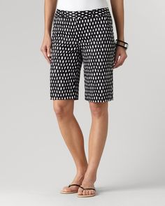 Sateen crisscross shorts | Coldwater Creek Criss Cross, Coldwater Creek, Modest Shorts, Satin, Short Outfits, Patterned Shorts, Bermuda Shorts, My Style, Clothes
