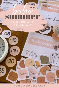Loving the boho vibe? Made to match our other BOHO SUMMER Classroom Decor, this stunning pack of labels   signs with it's retro summer theme is all you need to start organizing your classroom! Sunny pops of yellows and oranges are paired with a soft earthy palette of modern boho inspired colors, in this set of 70's summer time inspired pack to help calm your classroom. Easy to edit, choose your label or sign, use our fonts or add your own then press print! #classroomdecor #bohoclassroomdecor Classroom Labels, Classroom Themes, Classroom Organization, Organizing, Modern Classroom, Retro Summer, Classroom Inspiration, Modern Boho, Earthy