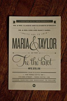 Wedding invitation done by my buddy Logan Gabel
