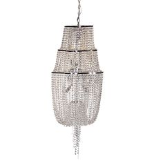 Crystal tiered chandelier £839.99. Strictly come dancing styled piece, Ballroom glamour.