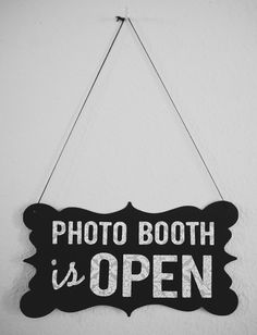 Photo Booth Prop Open / Closed Sign 2sided by sarahQhappybooths. $18.00 USD, via Etsy.