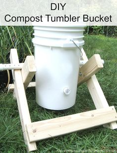How To Make A Compost Tumbler Bucket DIY