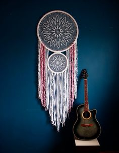 Giant dream catcher DOUBLE MEANING, large dream catcher, white crochet dream catcher, bohemian decor, wedding decor, boho bedroom decor