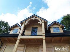 Łupek naturalny w architekturze - zastosowanie / łupek naturalny na deskach czołowych i wiatrownicach