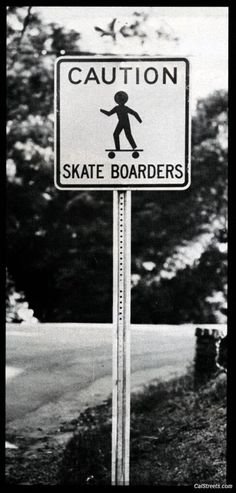 Skateboarding Sign Black and White Photography http://skateboardproshop.com