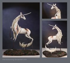 Pleases and Thank Yous Universe, I would like to have this, please The unicorn sculpture by thai-binturong Magical Creatures, Fantasy Creatures, The Last Unicorn, Unicorn Art, Cute Clay, Sculpture, Horse Art, Clay Art, Art Forms