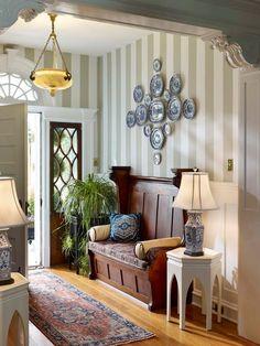 Nomadic Decorator | Church Pews in Homes | http://nomadicdecorator.com