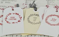 North pole gift tags by Nicole www.craftqueen.com.au