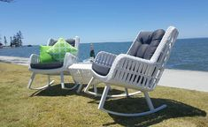 Paros Suite (inc 2 Rockers & Side Table) - END OF LINE - 218645 For Sale, Buy from 2 Seat Lounge Sets collection at MyDeal for best discounts. Comfortable Outdoor Chairs, Outdoor Lounge Furniture, Outdoor Decor, Paros, Furniture Covers, Outdoor Settings, Outdoor Living, Rockers, Rocking Chairs