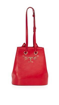 Charlotte Olympia Feline Bucket Bag Womens Purses, Vintage Bags, Bucket Bag,  Cross Body 8a52c667ad