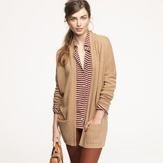 cardigan, I love how the pockets are set with the bottom ribbing:)