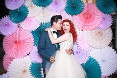Wedding photobooth paper sunburst explosion!