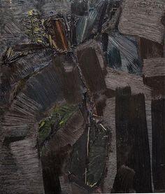 Jacek Sienicki: Kwiat liście, 1997 r. olej, płótno, 61 × 50 cm sygn. i dat. p.g.: J.SIENICKI/97