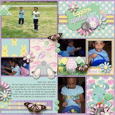 Eggstravaganza LO1 - Scrapbook.com