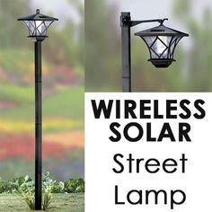 Outdoor solar lamppost diy home family school conveniently add some wireless solar lighting to your outdoor living area with the solar led street aloadofball Images