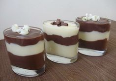 Chocolate and vanilla pudding | Ivitax.com