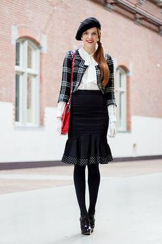 Peplum Skirt Outfit -Retro Sonja   Vintage Fashion Blog
