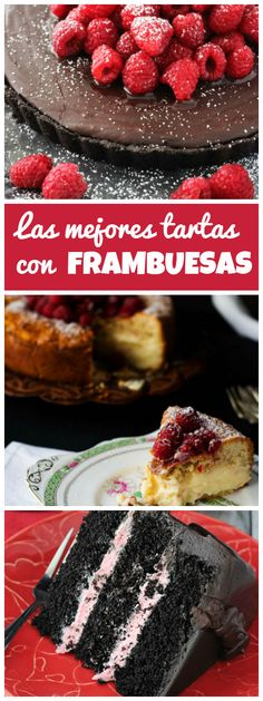 Las 14 mejores tartas con FRAMBUESAS | Tasty Details