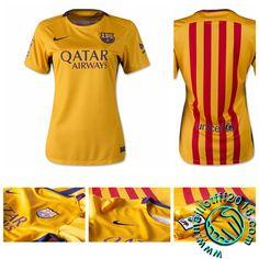 Maillot FC Barcelona Femme EXTERIEUR 2015 16