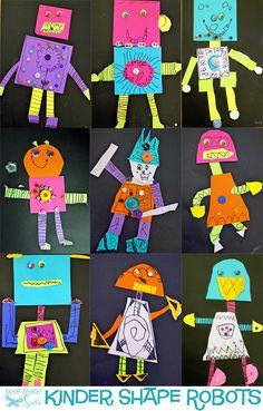 1st Grade Quarter 1 Shape Robots (focus on geometric shapes)