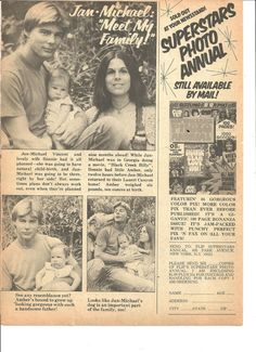 Jan Michael Vincent, Full Page Vintage Clipping