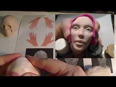 Tutorial - Sculpting a female head in polymer clay Part 1 by Linda Ehrenfried - YouTube