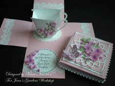 Tea Cup Explosion Box by Selma - Cards and Paper Crafts at Splitcoaststampers