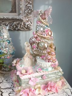Marie Antoinette, Eat Cake, French, Paris, Marie, Easter, Bottle brush tree,Feather tree, josef originals