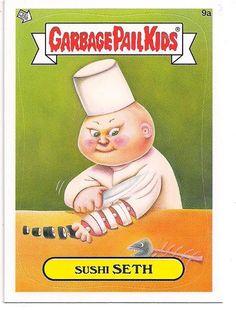 2012 Topps Garbage Pail Kids Sushi Seth Sticker