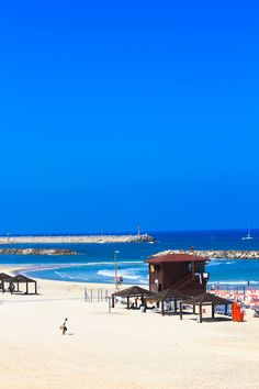 On the Beach in Tel Aviv, Israel